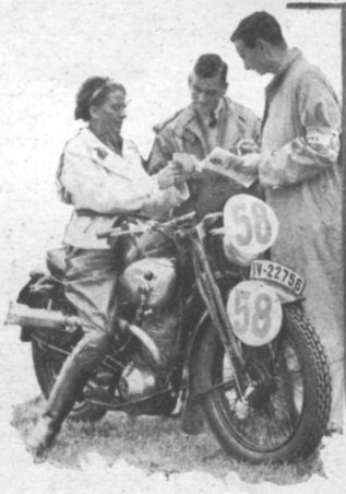 Photo of #59 Ilse Thouret 245cc DKW the German lady entrant