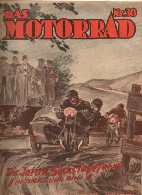 cover - das Motorrad #30 1937 report on ISDT 1937