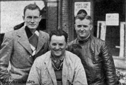 Photo - Czechoslovakia Trophy Team l-r F Juhan, A Vitvar and V Stanislav (All Jawas) ISDT 1937 (Speedtracktales collection)
