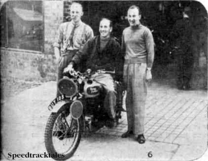 Photo - Ireland 'B' Vase team l-r H McKee (498Levis) T Stewart (346 Royal Enfield) [BUY 105] and S Moran (498 Matchless) ISDT 1937 (Speedtracktales collection)