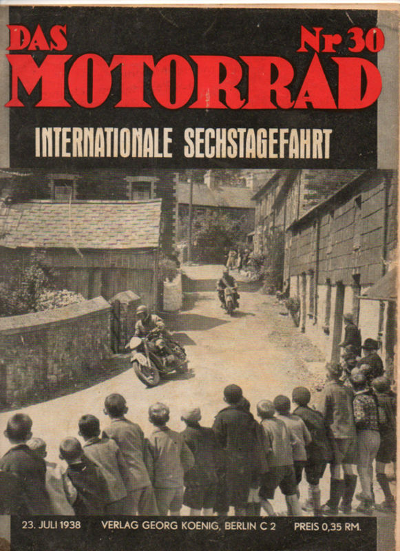 image - cover of das Motorrad #30 23 Jul 1938 with report on ISDT 1938