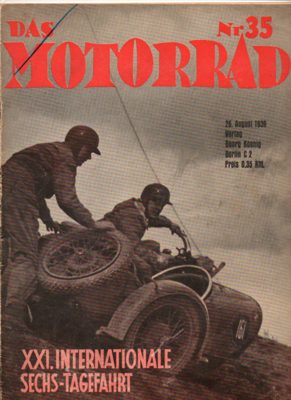 image - cover 'das Motorrad' #35 26 Aug 1939 with review of ISDT 1939