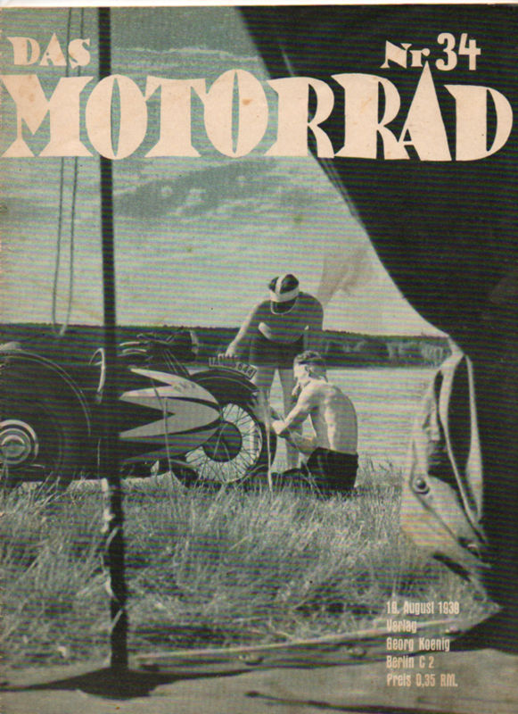 image - cover 'das Motorrad' #34 19 Aug 1939 with review of ISDT 1939
