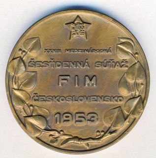 Photo - Participants Medal - rear ISDT 1953