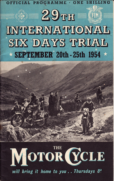 ISDT 1954 Programme Cover