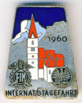 Photo of Souvenir Pin Badge ISDT 1960 Austria (courtesy eBay)