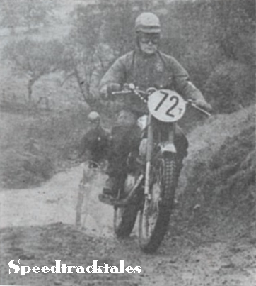 Photo - Czechoslovak Trophyman #72 J. Pudil 175cc CZ leads Austria's S Stuhlberger 175cc Puch during Monday mornings run. ISDT 1961