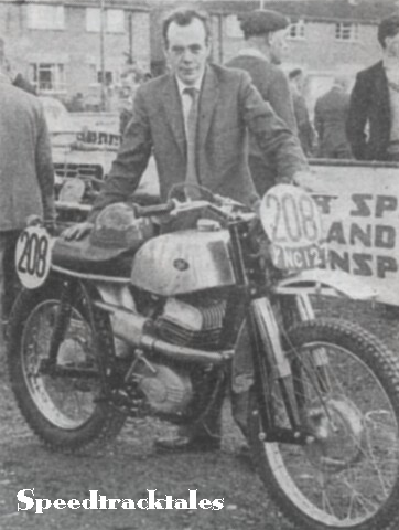 Eric Adcock shows his surprise package - the prototype 246cc DOT with modified Villiers engine and square tube frame. ISDT 1961