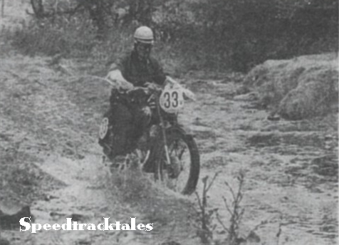 Photo - A Roucka of Czechoslovakia's Vase B team takes a fore-lunch dip with his 125cc CZ