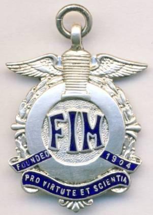 Silver Medal (front) of V Nedvidek ISDT 1963