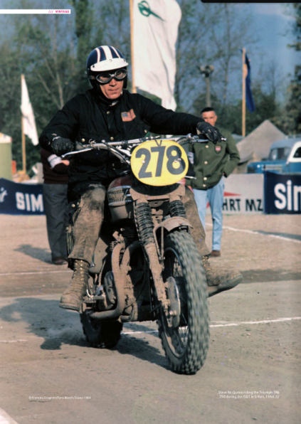 Photo of Steve McQueen ISDT 1964(Courtesy FIM / Paris Match)