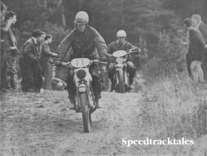 Photo of #11 Rob Boom DKW of Holland leads Spanish Bultaco rider Jose Costr