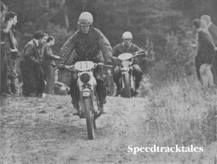 Photo of #11 Rob Boom DKW of Holland leads Spanish Bultaco rider Jose Costr