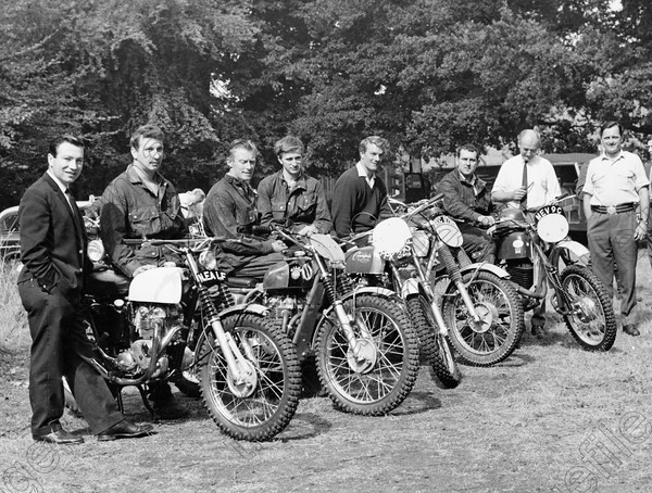 Photo of British Trophy Team at ISDT 1967