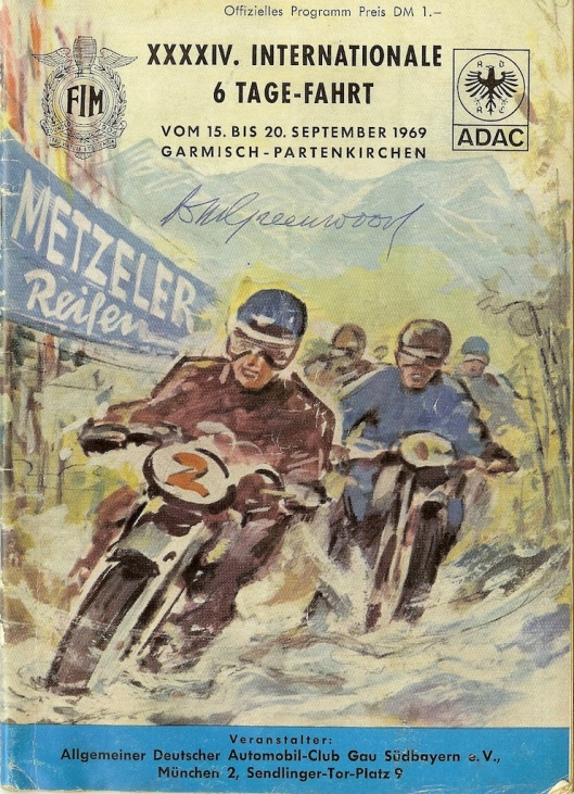 Image - scanned cover Official Programme of ISDT 1969 (Greenwood Family Collection)