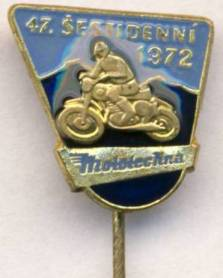ISDT 1972 pin badge