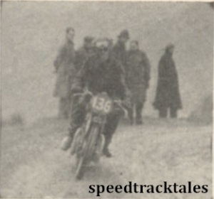 photo - #136 G Wolsey (498 Triumph), winner of a Gold Medal, shown on the Bwlch y Groes ISDT 1938 (Mortons Archive)