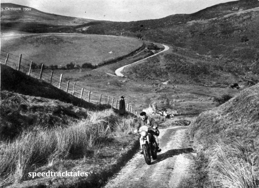 """Photo - Team-captain FM Rist riding throughout the week on his 499cc BSA was that of a """"true craftsman"""" ISDT 1950 (Speedtracktales Archive)"""