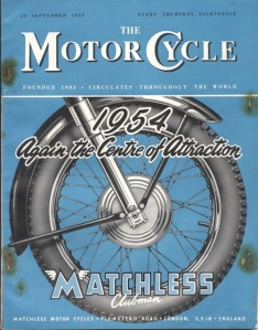 Image - Cover of the Motor Cycle magazine 24 Sept 1953 ISDT 1953