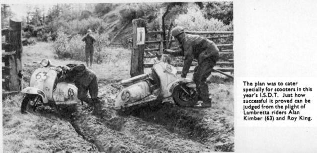 Lambrettas in deep ruts