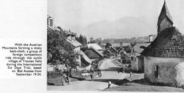 Sunlit village of the Trauten Fells