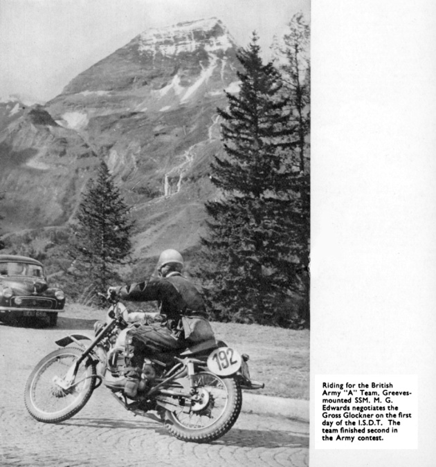 British Military Rider on the Gross Glockner