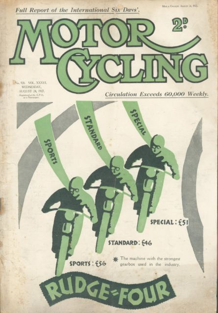 image - cover of Motor Cycling 24 August 1927 ISDT 1927