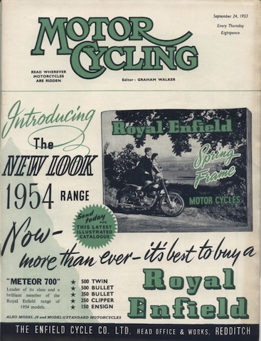 Image of cover of Motor Cycling 24 Sept 1953