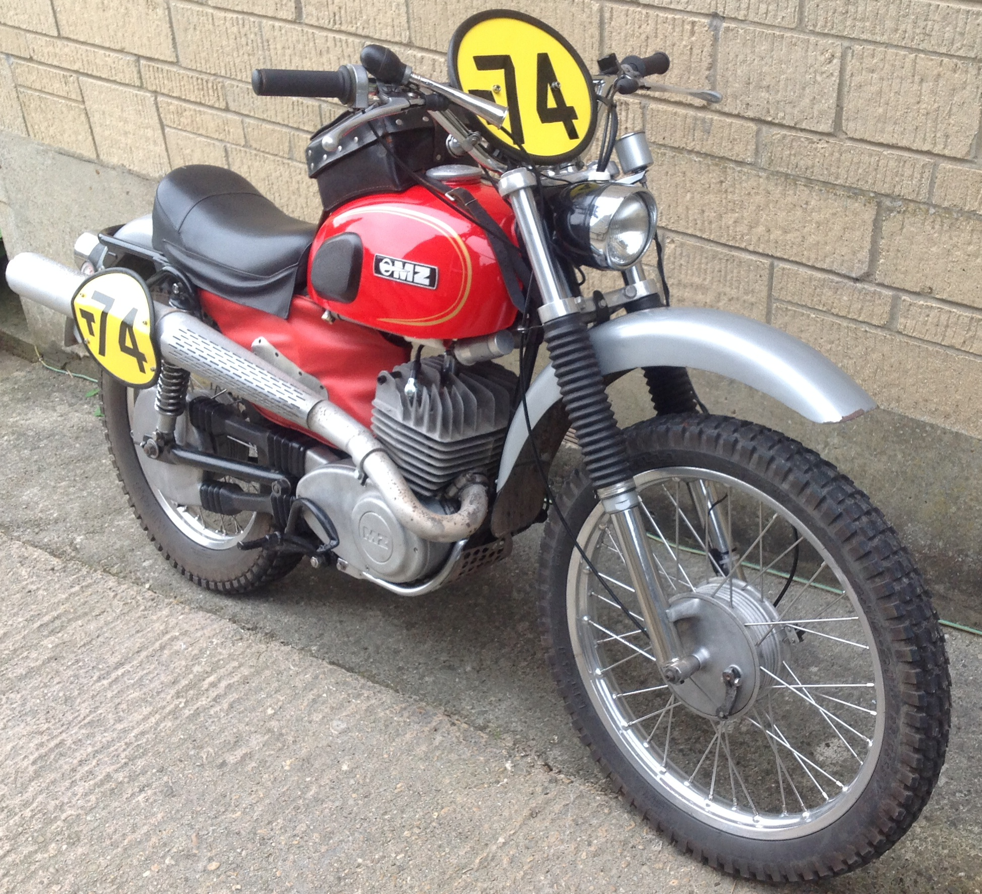 Isdt 1975 Isle Of Man Speed Track Tales 1970 Honda 75cc Motorcycle Photo Restored Mz 250