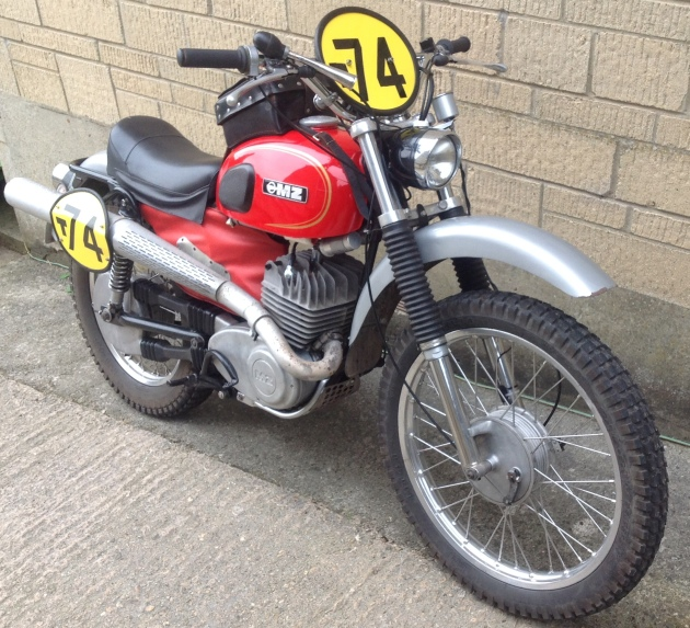 Photo of restored MZ 250 1975