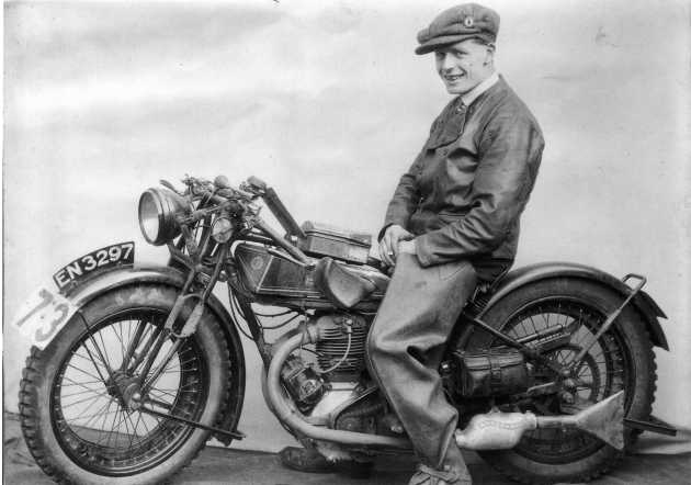 Photo of #73 H R 'Ginger' Lees in ISDT 1927