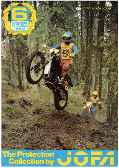 image - cover of official programme for the 53rd Edition of the ISDT being held in Sweden in 1978