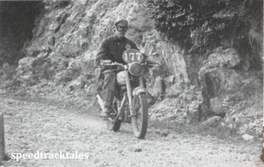 photo - #177 W Clarke, (Irish Vase Team) amid the mountainous terrain and extremely rough road surfaces which characterised the 1951 event in Italy. ISDT 1951 (Speedtracktales collection)