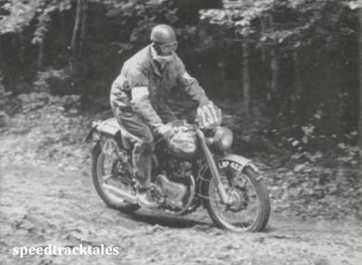 photo - #237 Jack Stocker [LWP 422] looses no time along a deeply rutted woodland track ISDT (Speedtracktales collection)