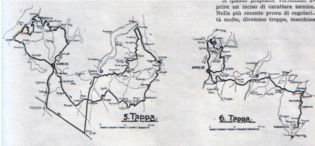 Image - scanned course map of ISDT 1951