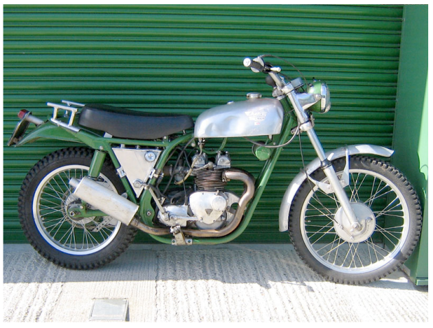Image of restored Cheney Triumph ISDT 1968