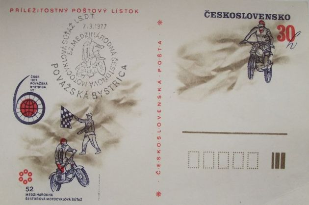 image - Souvenir postcard ISDT 1977