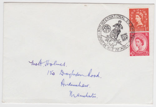 Photo - Special ISDT franking mark by the IoM Post Office ISDT 1965