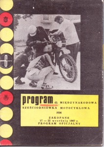 image - official programme cover 42nd ISDT 17 - 22 September 1967 Zakopane, Poland ( Courtesy Brian Catt)