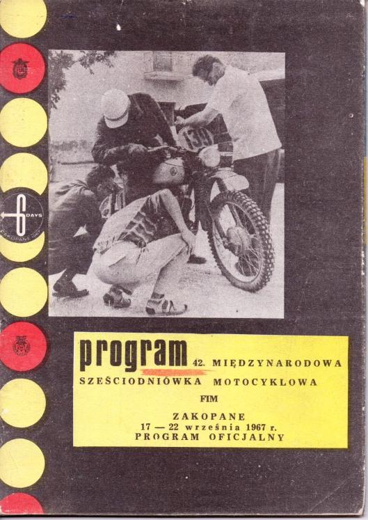 image - official programme cover 42nd ISDT 17 - 22 September 1967 Zakopane, Poland ( Courtesy Brian Catt)
