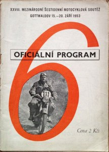 Image - Cover of official programme of the 28th ISDT held in Gottwaldov, Czechoslovakia 15 - 20 September 1953 (Speedtracktales Collection)