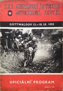 Image - Cover of official programme of the 30th ISDT held at Gottwaldov in Czechoslovakia 13 - 18 September (eBay)
