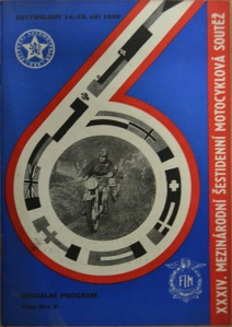 image - cover of official programme 34th ISDT Gottwaldov Czechoslovakia 14 - 19th September 1959