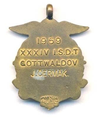 ISDT 1959 Gold Medal rear
