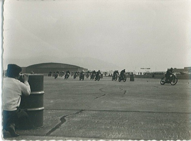 Photo - final speed test at Zeltweg ISDT 1960