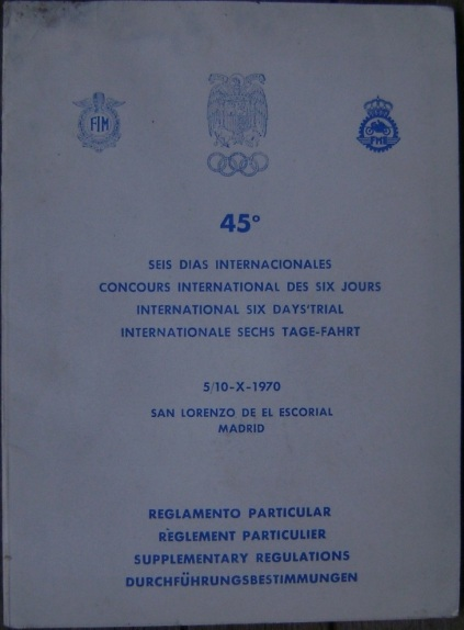 image - cover of Supplementary Regulations ISDT 1970