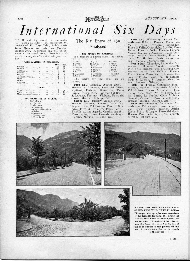 image of scanned preview from 'the Motor Cycle' 18 Aug 1932