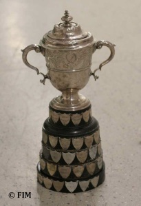 Image - Photo of the Silver Vase of 1949, now renamed the Junior Trophy (image courtesy of FIM)