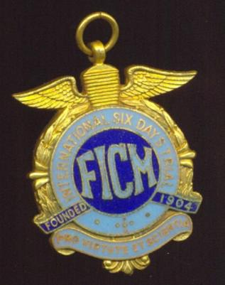 FICM gold medal (Front) for the ISDT - providence unknown