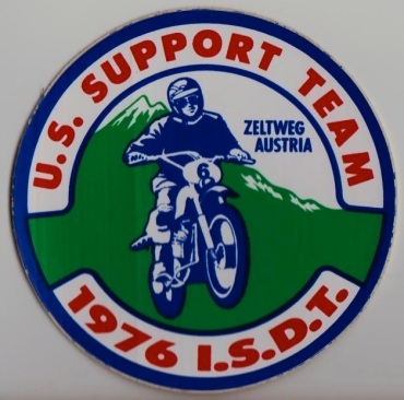 Photo US Team supporters sticker ISDT 1976